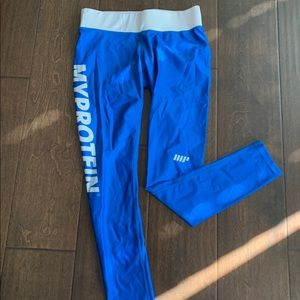 MyProtein Blue workout pants